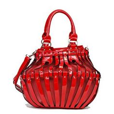 Red Fashion Bucket Bag