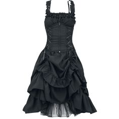 """Poizen Industries Mittellanges Kleid, Frauen """"Soul Dress"""" schwarz • EMP"""