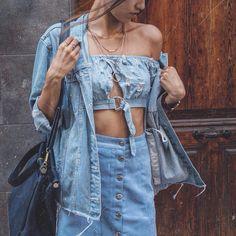 "912 Likes, 64 Comments - MOUNA | How I Met My Style (@howimetmystyle) on Instagram: ""Addicted to denim | Use code MOUNA for 15% OFF on fashionnova.com | @fashionnova #fashionnova…"""
