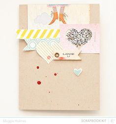 Love You Card  maggie holmes at Studio Calico  - March Kits