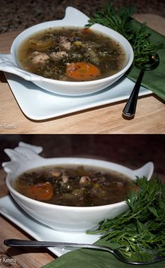 Herby Chicken Soup with Colorful Kale and Quinoa