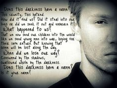One tree hill Lucas scot This qoute has so much meaning, heart felt words and truth
