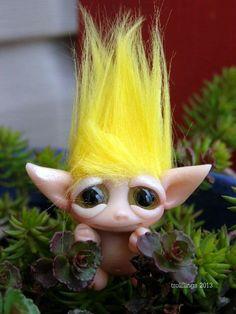 OOAK Sunny Yellow Trollfling Troll boy Jake by by Trollflings, $40.00