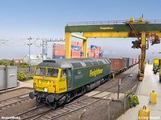Warren Lane is an OO gauge freightliner terminal using DCC control set in East Anglia on the Great Eastern Mainline between Diesel Locomotive, Electric Locomotive, Train Room, Hobby Trains, British Rail, Model Train Layouts, New Builds, Model Trains, Scale Models