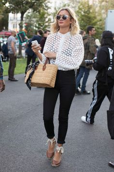 Paris Fashion Week Street Style Day 1: Quilty Tops and Brisk Winds - Fashionista