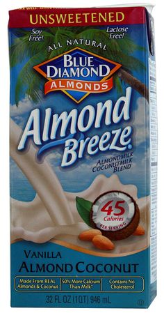 Blue Diamond Unsweetened Coconut Almond Breeze® Vanilla -- 32 fl oz