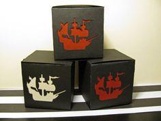 8 Pirate Ship Favor Boxes Ship Favors Ship by ElegantPartyPlans, $12.98