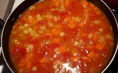 Recette : Soupe alphabets, tomates et légumes. Canadian Food, Canadian Recipes, Soup Recipes, Chili, Crockpot, Bbq, Beans, Food And Drink, Nutrition