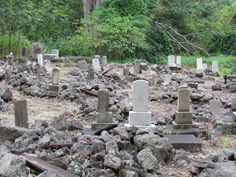 Rocky Buddhist cemetery in Wood Valley, Pahala, Big Island  photo by volcanoteapot.com
