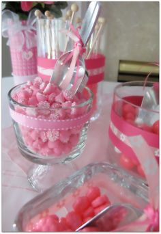 Always wanted to do a color themed Candy Party. Baby Shower Princess, Princess Party, Baby Princess, Princess Birthday, Candy Party, Party Treats, Candy Table, Candy Buffet, Pink Parties