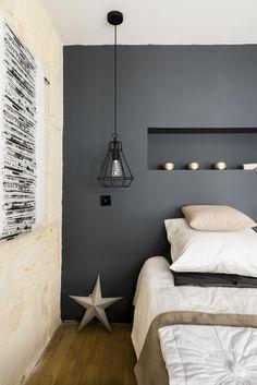 Bedroom with dark pa Teen Bedroom, Gray Bedroom, Master Bedroom Design, Home Bedroom, Bedroom Neutral, Bedroom Simple, Modern Bedroom, Bedroom Designs, Top 5