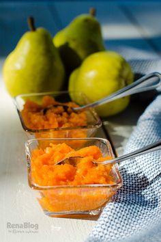 Compotas de zanahoria y pera para el bebé Baby Cooking, Sweet Sauce, Mini Foods, Marmalade, Baby Food Recipes, Cantaloupe, New Baby Products, Jelly, Mango