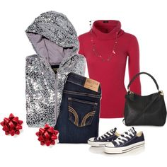 """""""Wearing Christmas Casual"""" by kathy-paul on Polyvore"""