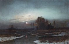 Alexei Savrasov - Autumn Landscape with a Swampy River in the Moonlight http://sakrogoat.tumblr.com/post/135700316593