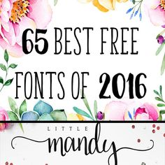 65 Best Free Fonts of 2016 2016 has been a fabulous year for free fonts! And to make sure you didn't miss any of my favorites, I've rounded up all I could find here for your convenience! With all these beauties all in one place,my mind could only wander and think of what 2017 has...Read More »