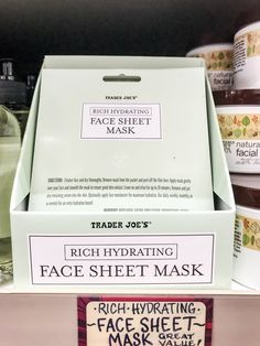 A self-care regimen never seemed so easy. The rich, hydrating face sheet mask is designed to rejuvenate and even has cucumber fragrance, because it's not a spa Lavender And Lemon, Spa Night, How To Remove, How To Apply, Beauty Regimen, Pretty Packaging, Sheet Mask, Trader Joes, Beauty Routines