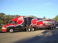 University of Wisconsin–Madison Badgers - equipment transporter for away football games College Fun, College Football, Football Equipment, University Of Wisconsin, Wisconsin Badgers, Sporty Girls, Bucky, 4 Life, Games