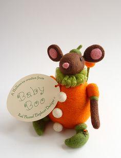 Baby Boo tag #craft #handmade #felt