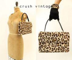 60s Leopard Purse  / 1960s Handbag  /  La Gara by CrushVintage