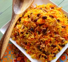 Sweet Basmati Rice with Carrots and Raisins