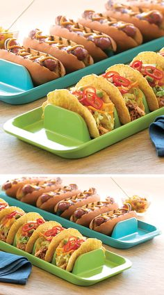 Stuffit Platter // assemble and serve tacos, hot-dogs, sandwich wraps etc. without them tipping or rolling over - clever! #product_design