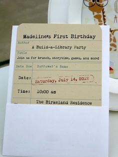 Brett & Haley: Madelines First Birthday: A Build-A-Library Party
