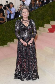 Pin for Later: 28 Celebrities Who Made Their Met Gala Debut This Year Bette Midler First Monday In May, Bette Midler, Lady M, American Singers, Natalie Wood, Gowns, Long Dresses, Formal, Popsugar