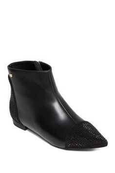 Embellished Point Toe Bootie