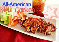 All-American Barbeque Chicken - delicious homemade sauce from @KitchenMeetsGir