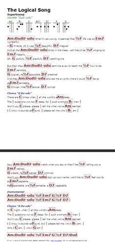 The Logical Song (Supertramp) - http://myuke.ca