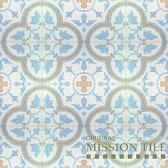 Terrazzo cement tile - Roseton