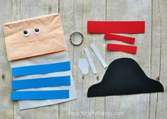 This paper bag pirate craft is adorable and since it is a puppet, your child will have a fabulous time getting to play with their puppet after making it.