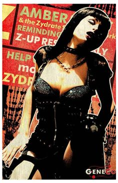 Poster from the movie Repo! The Genetic Opera. Paris Hilton as Amber Sweet.