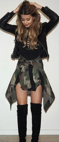 Lace up - Camo - Leather - NetteNestea.com