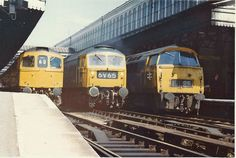Classic 70s line-up at Exeter St Davids   A Class 47 running…   Flickr