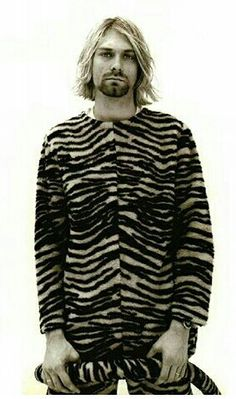 Kurt Cobain en botarga de tigre