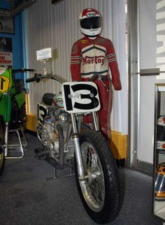 National #13, David Aldana rode this  factory Norton Trackmaster to many wins at Ascot Park in the early 70's.