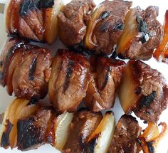 Happier Than A Pig In Mud: Sweet and Spicy Beef Kabobs -Outdoors or on the George Foreman Grill