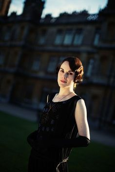 "Michelle Dockery plays oldest daughter Lady Mary Crawley on ""Downton Abbey."""