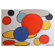 "Alexander Calder lithograph print ""Red Sphere and Forms"""