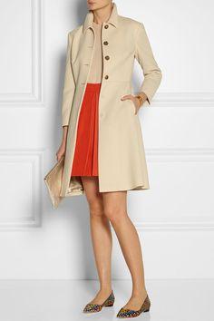 MIU MIU Belted wool-crepe coat