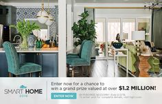 HGTV Smart Home Giveaway: Enter for 2 chances to win a high-tech home, a 2016 Mercedes-Benz and $100k from Quicken Loans!