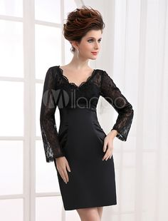 Cocktail Dresses Dynamic Alofa Women Cocktail Dresses Elegant V Neck Sequins Long Sleeve Tassel Slim Pencil Dress Party Gown Homecoming Dresses Soft And Light