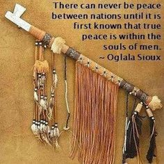 Let's all smoke from the peace pipe