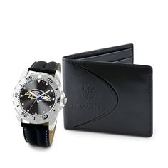 Baltimore Ravens NFL Men's Watch & Wallet Set