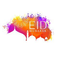 eid mubarak watercolor background with mosque silhouette Eid Mubarak Hd Images, Eid Mubarak Gif, Eid Mubarak Vector, Eid Mubarak Wishes, Eid Mubarak Background, Eid Mubrak, Mosque Silhouette, Eid Festival, Eid Mubarak Greetings