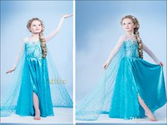 Venda Por Atacado 2014 Novo Design Congelado Princess Dress Crianças Princesa Elsa Vestido Cosplay Em Congelado Costume Fancy Dress Em Attire, $8.22 Em Pt.Dhgate.Com | Dhgate