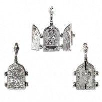Panie Wszechmogący, św Matrona Moskwy.  Amulet ze srebra próby 925