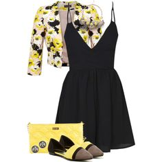 Untitled #2068 by jay-to-the-kay on Polyvore featuring moda, Miss Selfridge, Boohoo, Chinese Laundry, Kate Spade, Kiyonna and Tory Burch