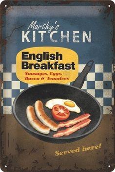 Englisch breakfast 20 x 30 Vintage Advertising Posters, Vintage Advertisements, Vintage Ads, Vintage Posters, Retro Posters, Advertising Signs, Vintage Signs, Brunch Dishes, Breakfast Dishes